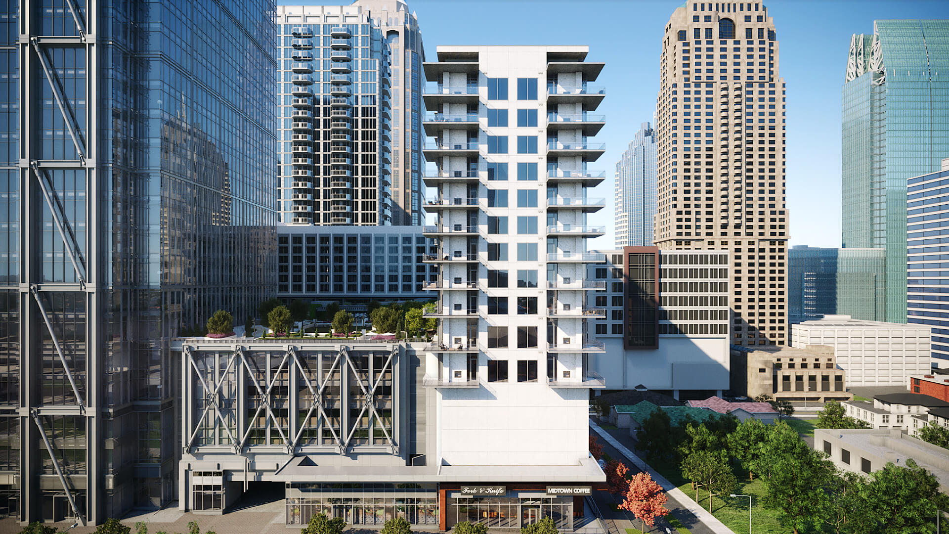 Fresh renderings: Block-consuming, multi-tower Midtown project set to begin ascent