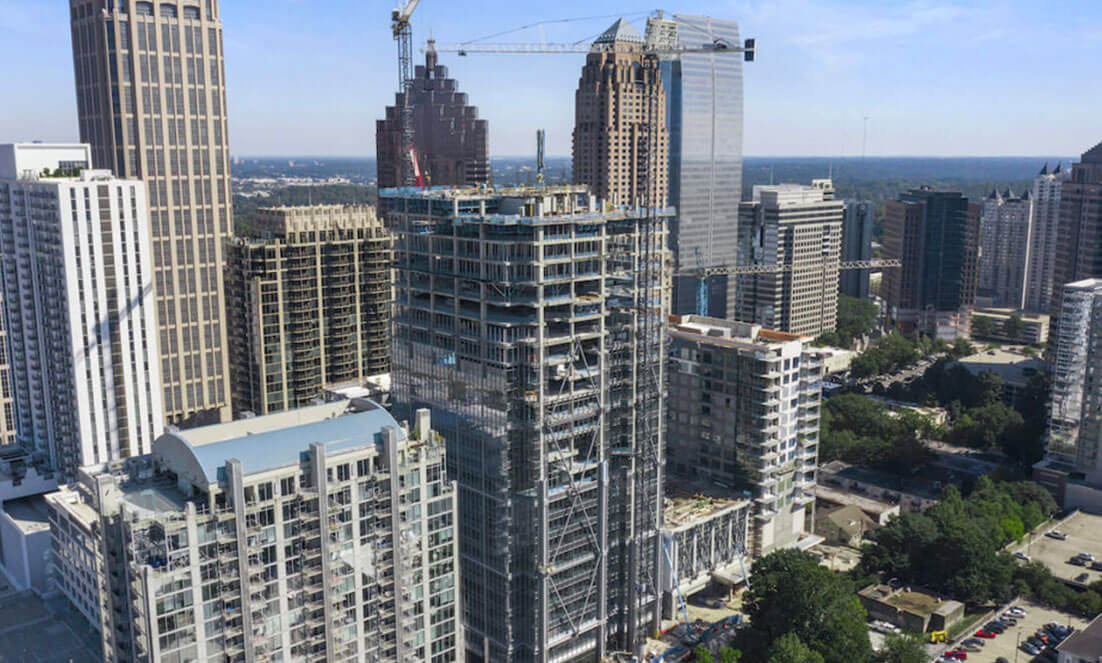 New Midtown condo development tops out, opens presentation gallery